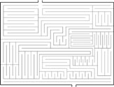 The first maze I drew on computer.  Approx. dimensions: 8'' x 10''.
