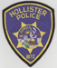 The Hollister Police Dept., Hollister, California.