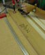 A router jig uised to cut dadoes, rabbets and grooves.